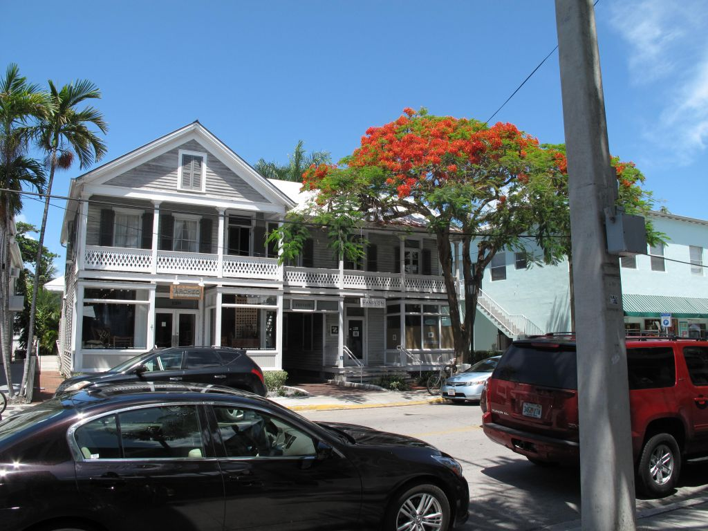 Typisk trehusbebyggelse i Key West